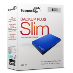 SEAGATE BackUp Plus Slim 1TB - USB 3.0 Portable External Hard Drive (Blue)
