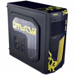 Dazumba D-Vito 686 Mid Tower PC Gaming Case - No PSU (Black)
