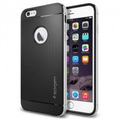 Spigen Neo Hybrid Metal Satin Silver - iPhone 6 Plus Case