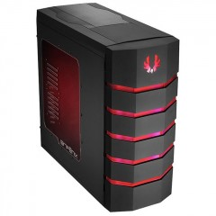BitFenix Colossus Window Full Tower PC Gaming Case - No PSU (Black - Red)