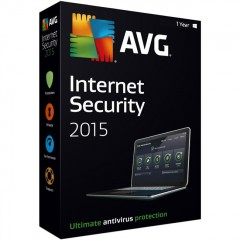 AVG Internet Security 2015 Home Edition - 3 PC | 1 Year License