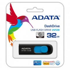 ADATA DashDrive UV128 32GB - USB 3.0 Capless Flash Drive