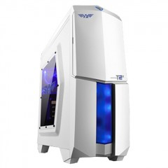 Armaggeddon Microtron T2X Mid Tower PC Gaming Case - No PSU (White)