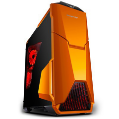 Segotep Warship Evo MiddleTower PC Gaming Case - No PSU (Orange)