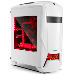 Segotep Warship Eva MiddleTower PC Gaming Case - No PSU (White)