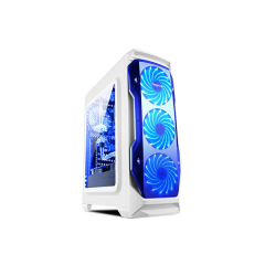 Segotep Halo MiddleTower PC Gaming Case - No PSU (White)