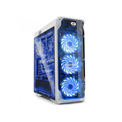 Segotep Lux MiddleTower PC Gaming Case - No PSU (White)