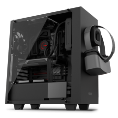 NZXT S340 Elite Mid Tower PC Gaming Case - No PSU (Matte Black)