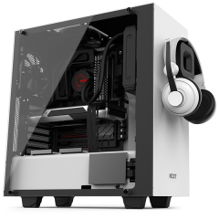 NZXT S340 Elite Mid Tower PC Gaming Case - No PSU (Matte White)