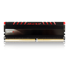 Avexir Core Red LED Memory 4GB Single Channel DDR4 PC RAM (AVD4UZ124001604G-1COR)