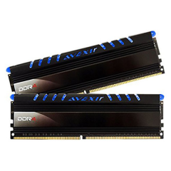 Avexir Core Blue LED Memory Kit 16GB Dual Channel DDR4 PC RAM (AVD4UZ124001608G-2COB)