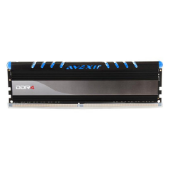 Avexir Core Blue LED Memory 4GB Single Channel DDR4 PC RAM (AVD4UZ124001604G-1COB)