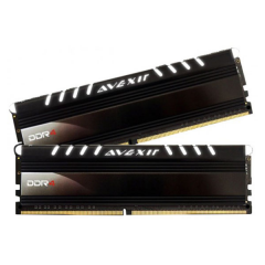 Avexir Core White LED Memory Kit 16GB Dual Channel DDR4 PC RAM (AVD4UZ124001608G-2COW)