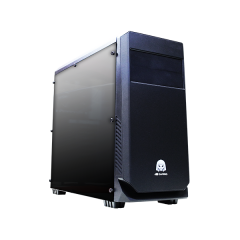 DA Gaming Quake C17 Mid Tower PC Gaming Case - No PSU (Black)