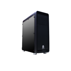 DA Gaming Quake C18 Mid Tower PC Gaming Case - No PSU (Black)
