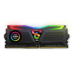Geil Super Luce RGB LED Memory Kit 16GB Dual Channel DDR4 PC RAM (GLC416GB2400C16DC)