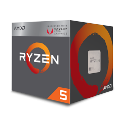 AMD Ryzen 3 2400G AM4 Quad Core Processor with Radeon™ Vega 11 Graphics (3.6 GHz Cache 4M)