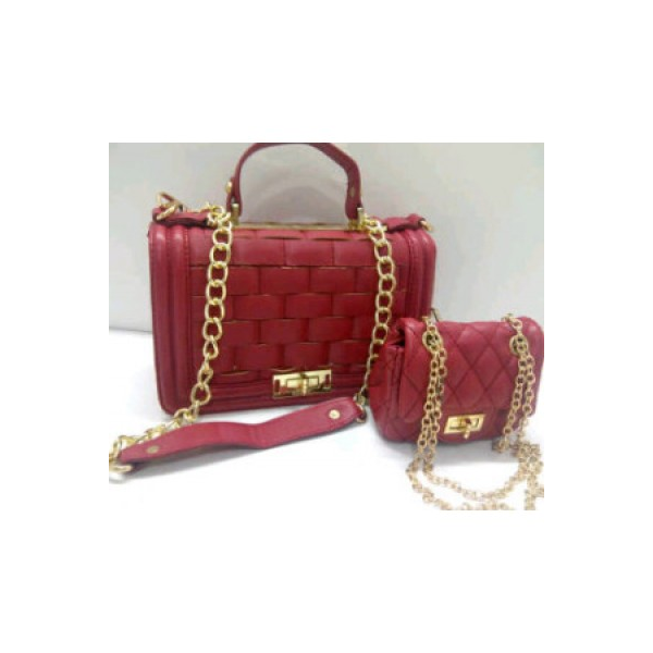 CHANEL pesta Mom & Kid Red