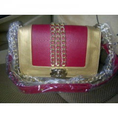 CHANEL Princess Syahrini super HK Redmaroon-gold ELEGAN
