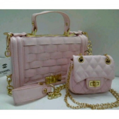 CHANEL pesta Mom & Kid Pink