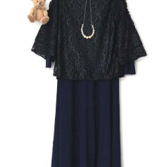 Dress Set Vania Navy All Size