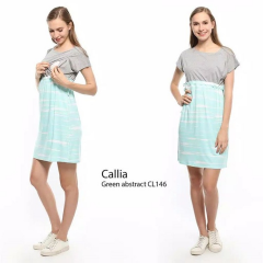 Baju Menyusui CALLIA Green Abstract CL146