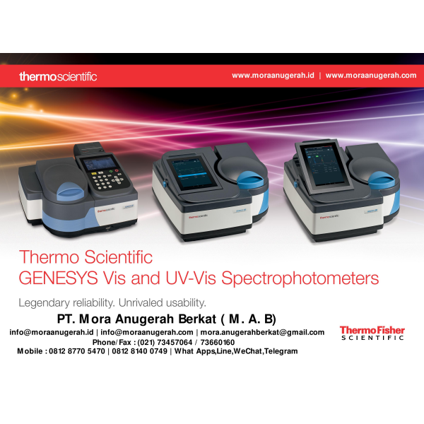 Thermo Scientific GENESYS Vis and UV-Vis Spectrophotometers