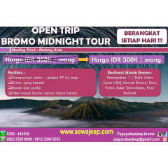 Open Trip Midnight Bromo