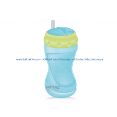 Swivel Straw Bottle Blue Green