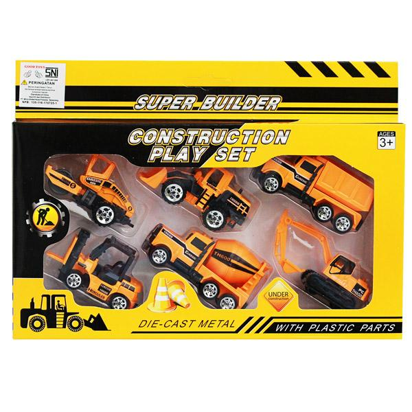 Die Cast Construction Car Truck isi 6 pcs