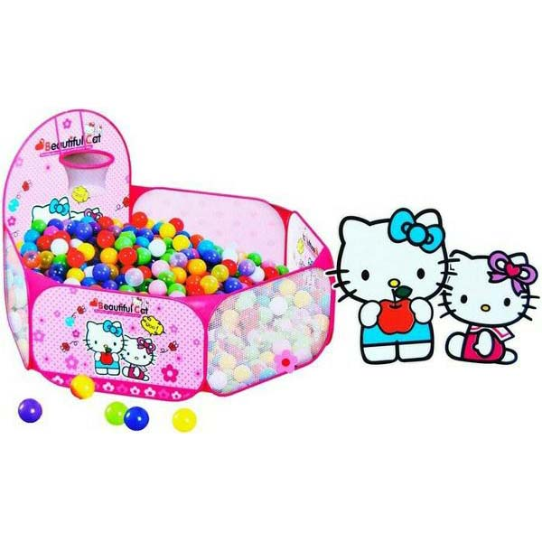 Keranjang Mandi Bola Hello Kitty