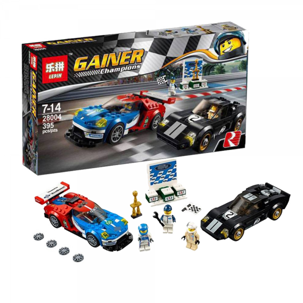 LEPIN Gainer 28004 Ford GT 2016 & Ford GT40 1966 Lego KW