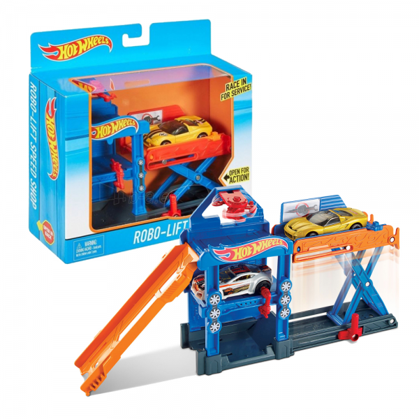 Hot Wheels Robo-Lift Speed Shop Track