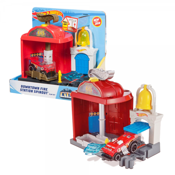 HotWheels Downtown Fire Station Spinout