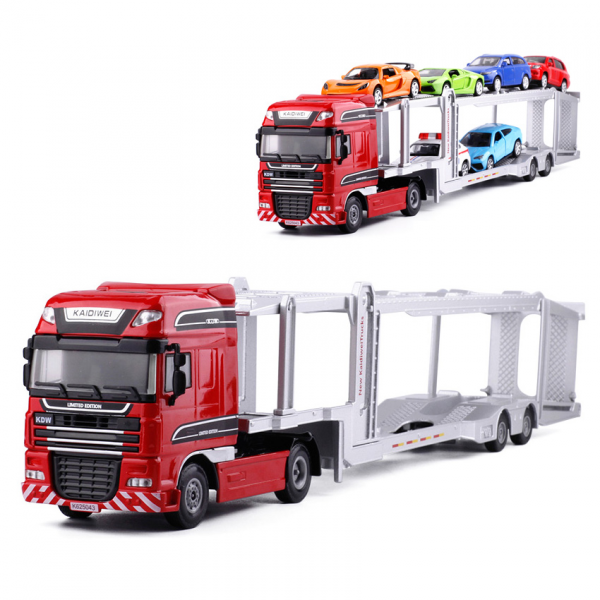 Die Cast KDW Trailer Transport Truck No.625043