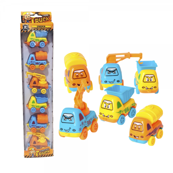 Mobil Cartoon Construction Truck 6 pcs 389-6A