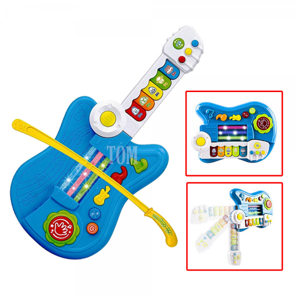 O-Baby 3in1 Multifunction Electronic Guitar Toy With Violin Stick And Piano Transformation