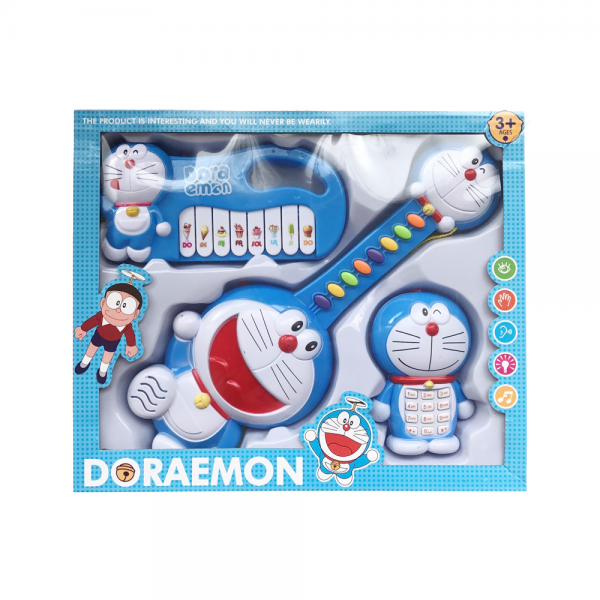 3in1 Multifunction Musical Guitar Toy With Piano And Phone Doraemon