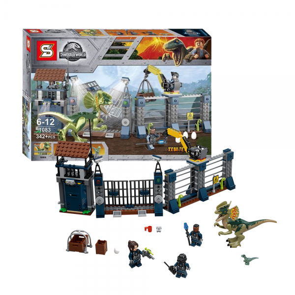 SY Jurassic World 1083 Dilophosaurus Outpost Attack Lego KW