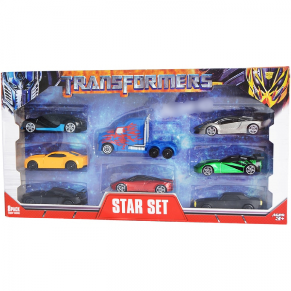 Die Cast Mobil Transformer Isi 8 pcs