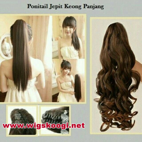 Ponytail Jepit Long Curly