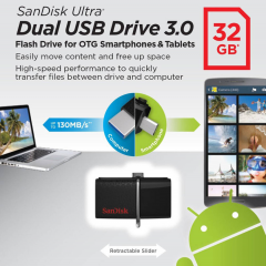 SANDISK Usb Otg 32GB Flashdisk For Smartphone And Tablet