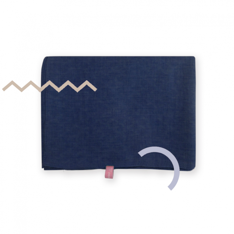 Alynda Shawl Square Deep Navy Blue