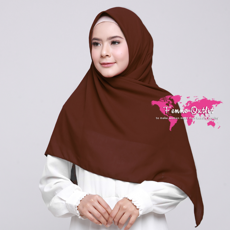 Alicia Shawl Square Deep Brick