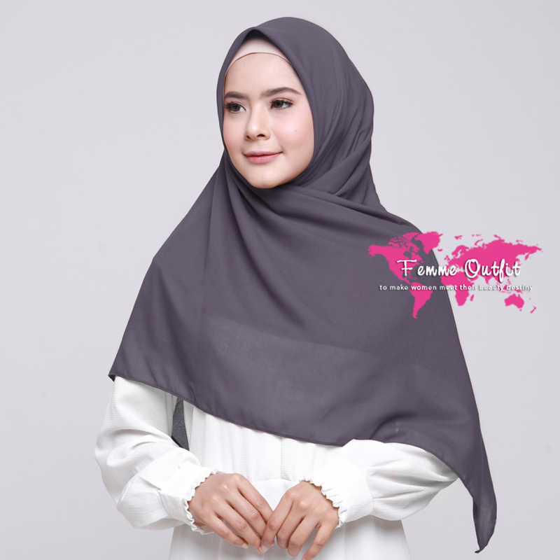 Alicia Shawl Square Grape Grey