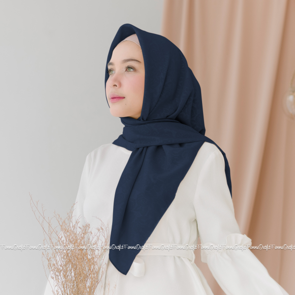 Maryam Shawl Navy Blue