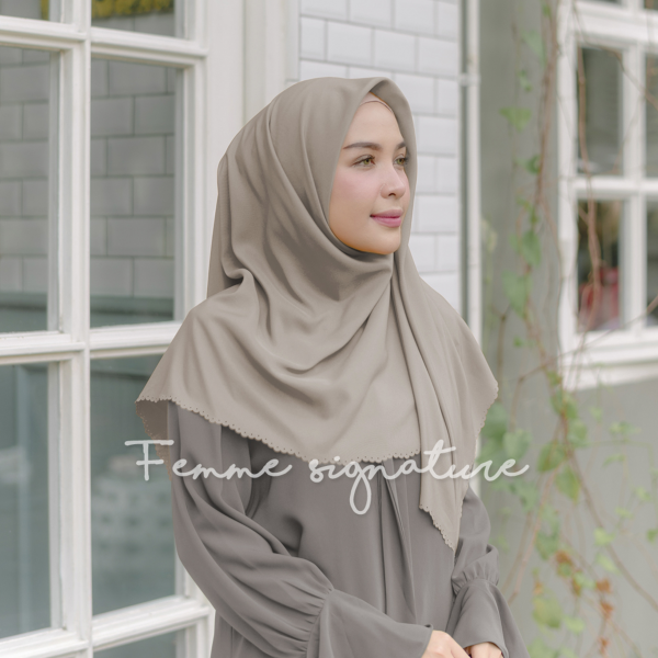 Khadijah Shawl Square Light Sand