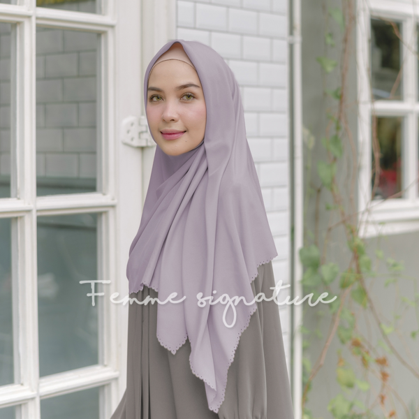 Khadijah Shawl Square Dusty Lavender
