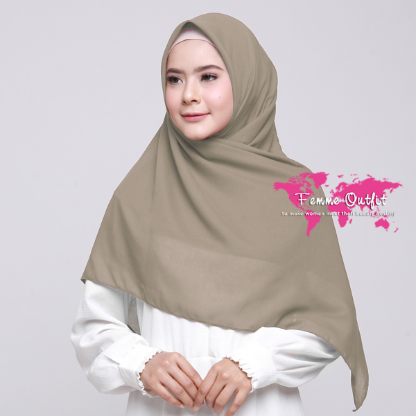 Alicia Shawl Square Deep Khaki