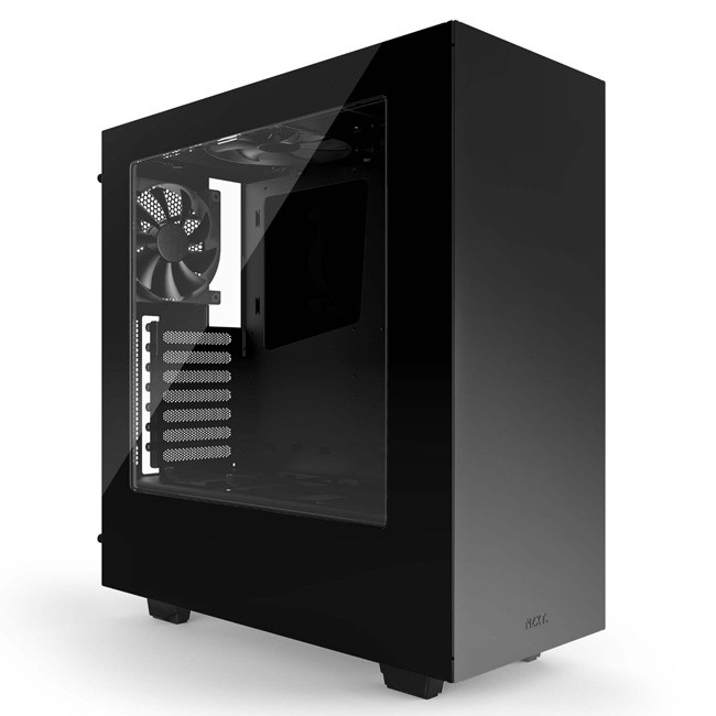 NZXT S340 Mid Tower PC Gaming Case - No PSU (Black)